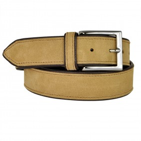 Belt leather suede brown
