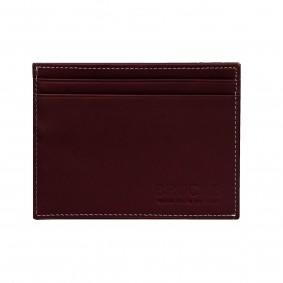 Credit card holder red bordeaux