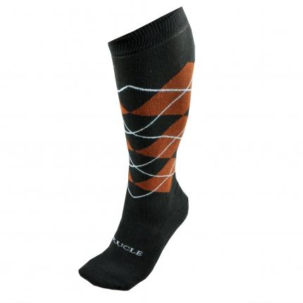 winter Socks men tartan orange