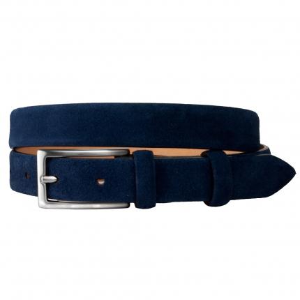 Cintura donna blu in camoscio