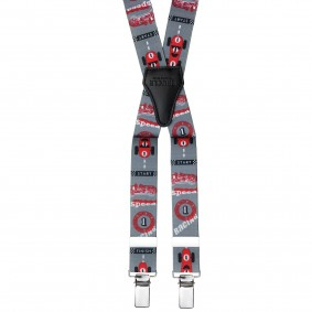 Grey Race Braces suspenders kids