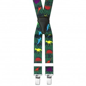 Dinosaurs Elastic Braces suspenders kids green