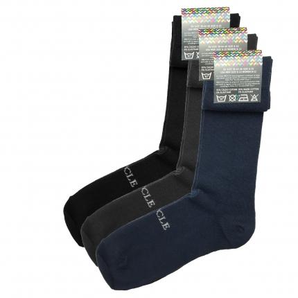 Lot de 3 paires de chaussettes unie
