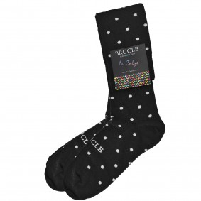 Socks men dot black