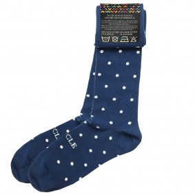 Socks men dot blue
