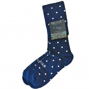 winter socks mens blue pois