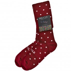 winter Socks men dot red