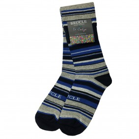 Socks men striped blue