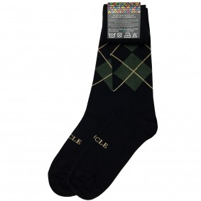 winterSocks men tartan green