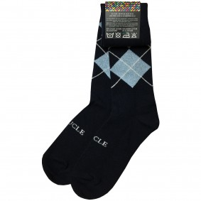 wintersocks men tartan blue