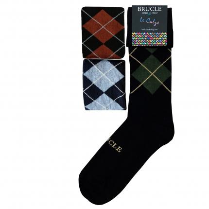 Lot de 3 paires de chaussettes tartans