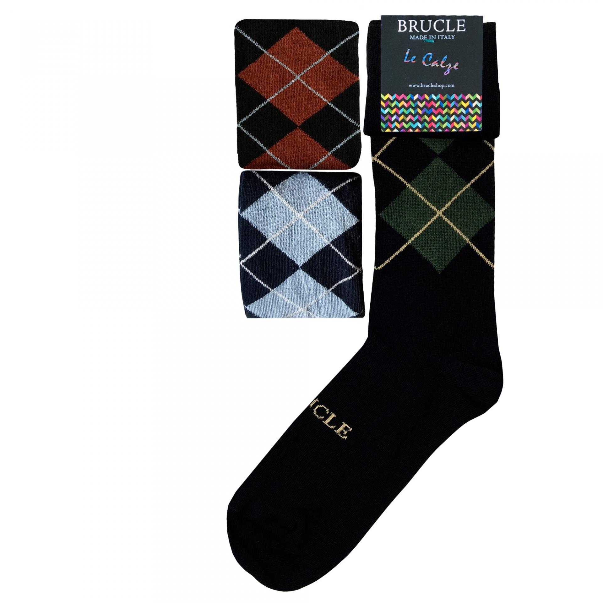 Men's 3 pack socks tartans
