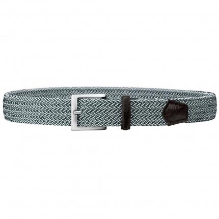 Cintura intrecciata elastica verde melange