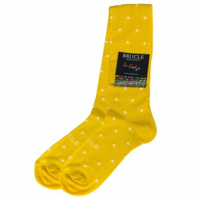 Socks men cotton dots yellow