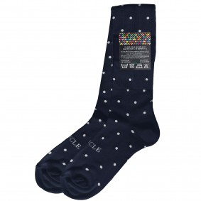 dress Socks dot blue