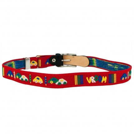 Cintura bambino rossa con macchinine