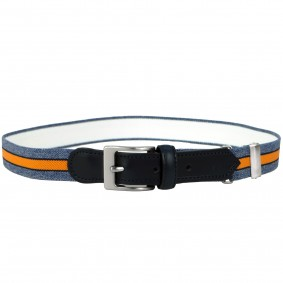 kids belt blue jeans orange