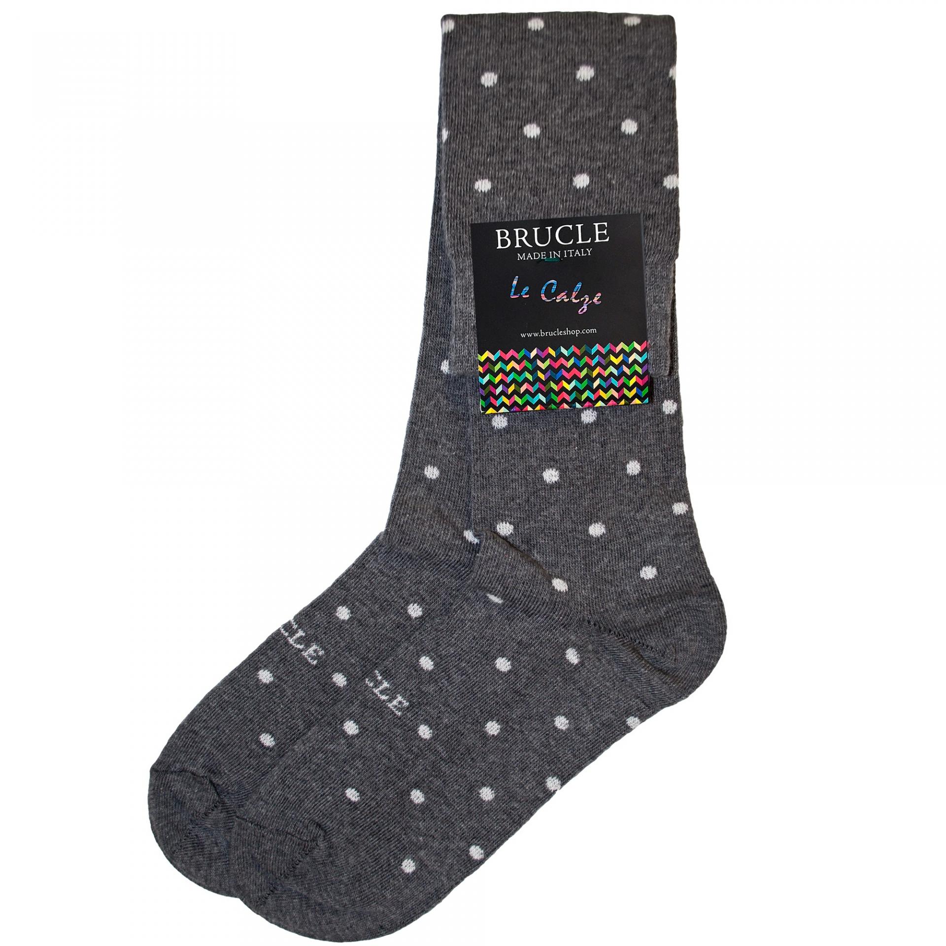 men's socks grey dot