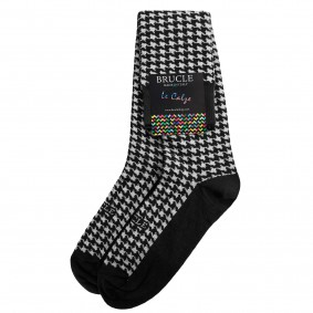 winter socks pied de poule black