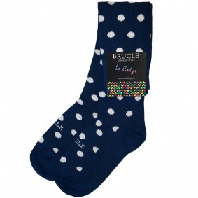 winter socks womens blue dot