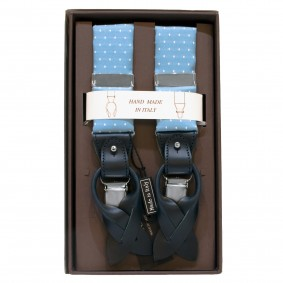 braces suspenders mens dot blue