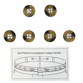 Button for suspenders brown