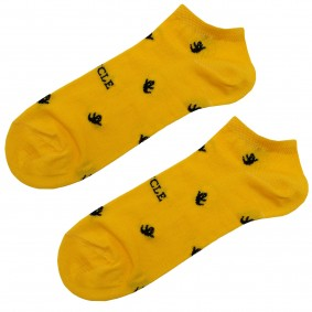 Ankle socks fantasmini yellow