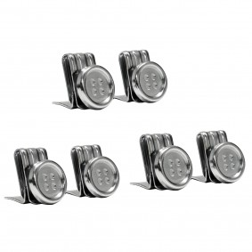 Clip on suspender buttons, silver