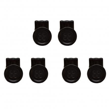 KnopfClipse schwarz für Hosenträger