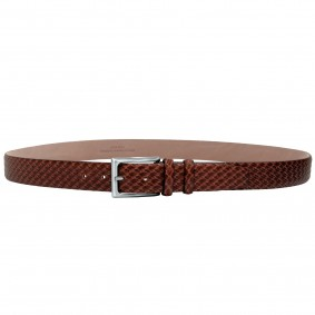 Men's casual gold brown Leather Belt