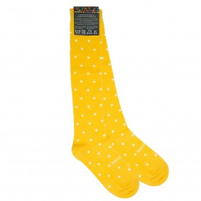 Yellow dots socks