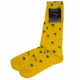 Socks men grey palm trees