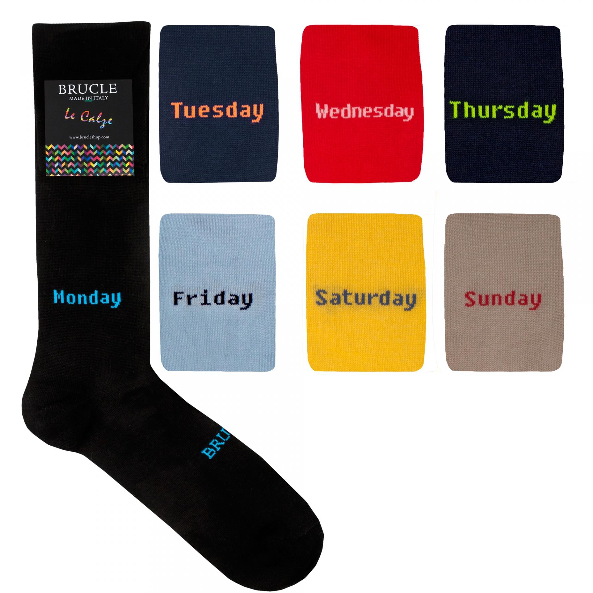 """Men's 7 pack summer socks """"weekly"""""""