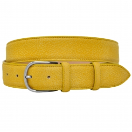 Cintura delavè in vera pelle cuoio