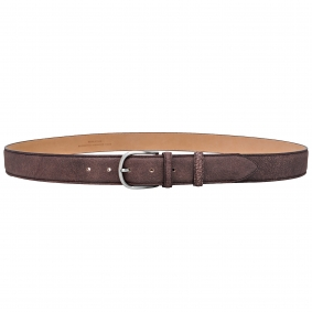 dark brown vintage belt made in italy