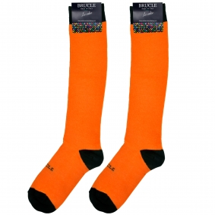 Calze uomo arancioni fluo