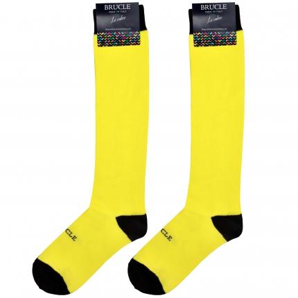 Calze uomo gialle fluo