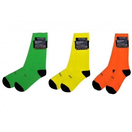 Men's 3 pack socks fluo