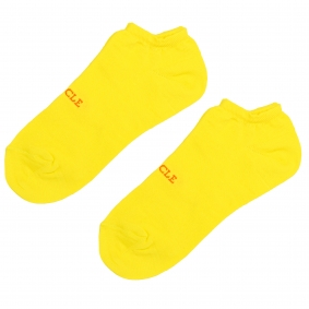 Ankle socks yellow fluo for men