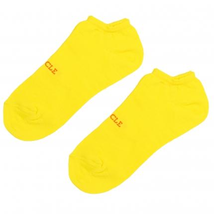Socquettes jaune fluo