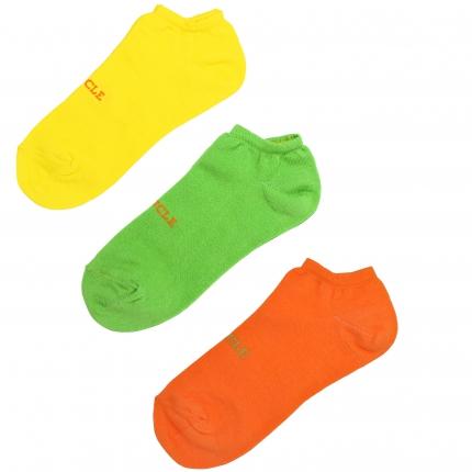 3 Paar Söckchen herren fluo grün gelb orange
