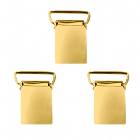 Suspenders braces set golden clips- 3 pcs