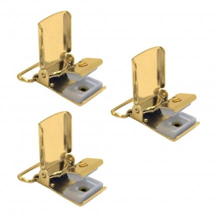 Clip di ricambio oro per bretelle - 3 pz.