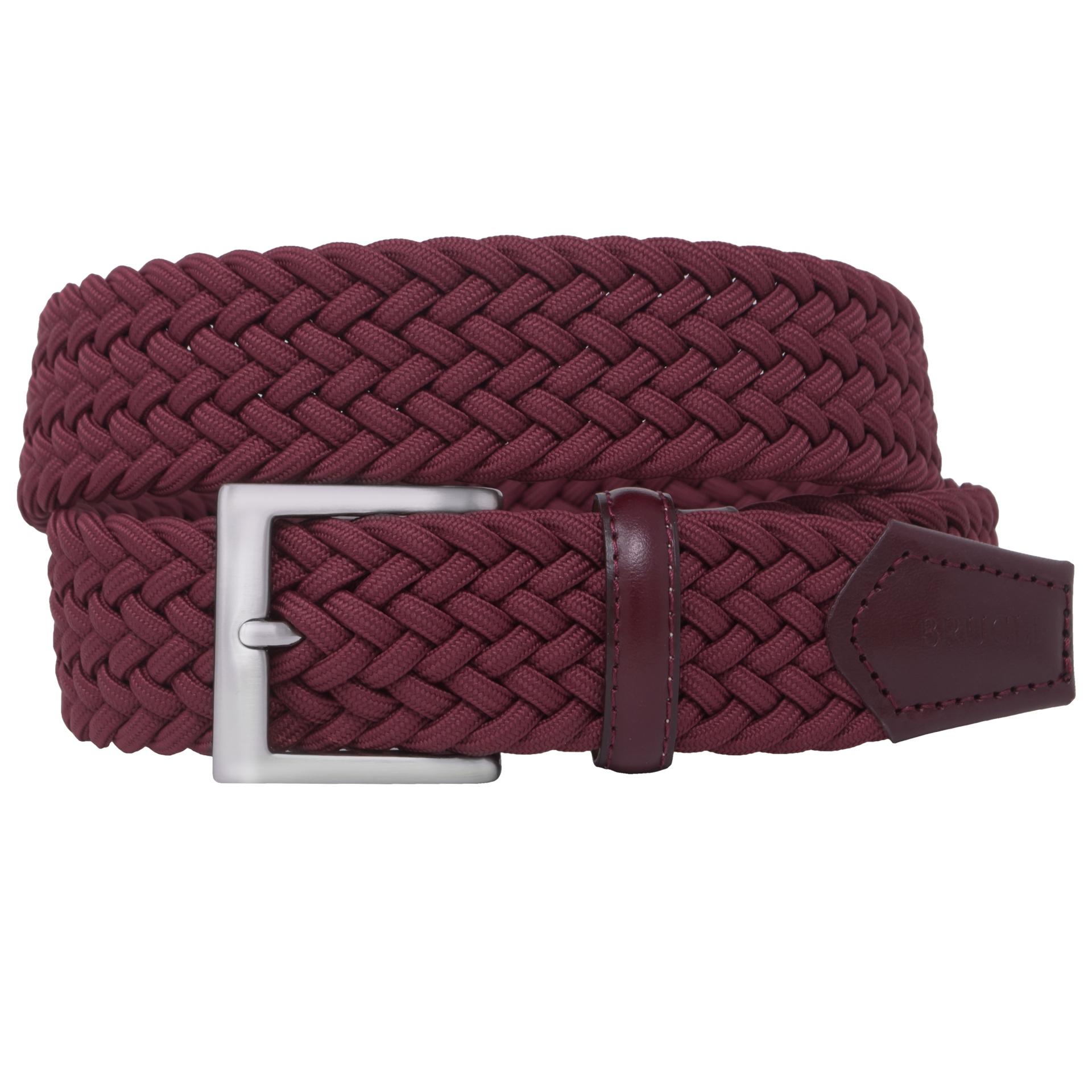 elastic braided belt bordeaux