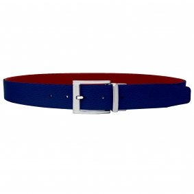 Reversible belt red and blue royal