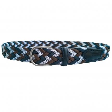 Cintura elastica intrecciata multicolore