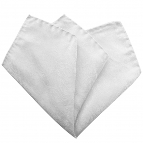 pocket square silk white