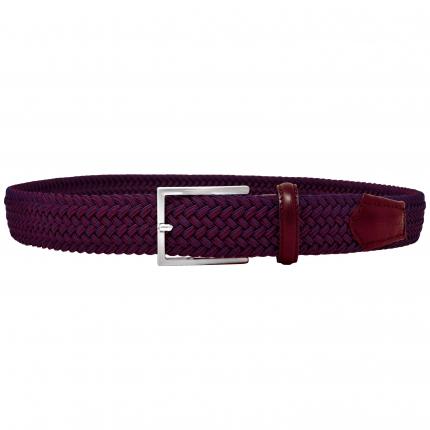 Cintura intrecciata elastica bordeaux melange