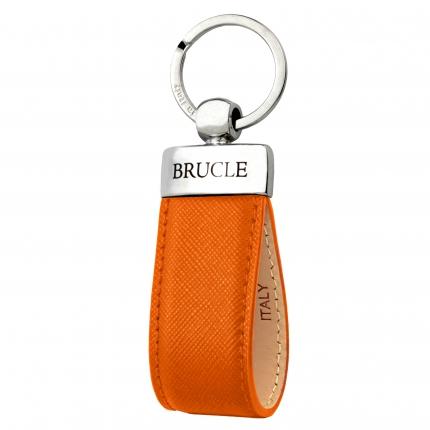 Schlüsselanhänger leder saffiano orange