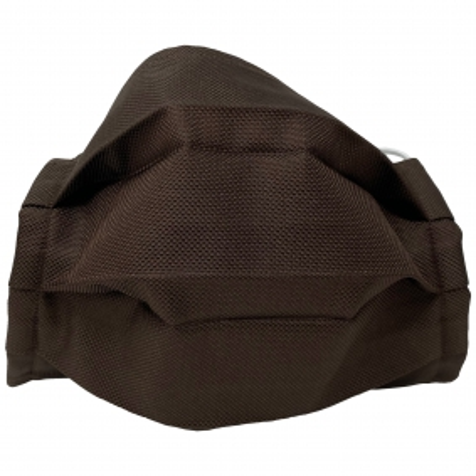 Masque filtrant brun foncé en soie, réutilisables